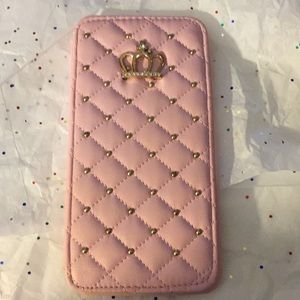 Accessories - IPHONE 7 & 8 PLUS PINK QUILTED PHONE CASE W/ BLING